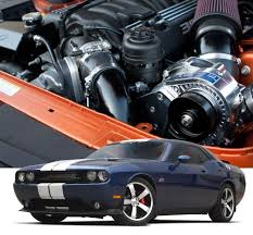 2011-2014 Dodge Challenger SRT8 Supercharger System H.O. Intercooled System with P-1SC-1 TUNER KIT